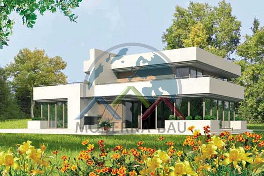 Moderna bau fertighaus km 62 fertigh user von moderna for Fertighaus bau