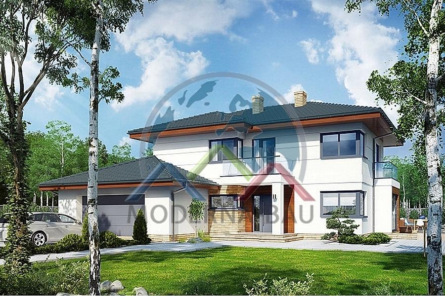 Moderna bau fertighaus kh 133 fertigh user von moderna for Fertighaus bau